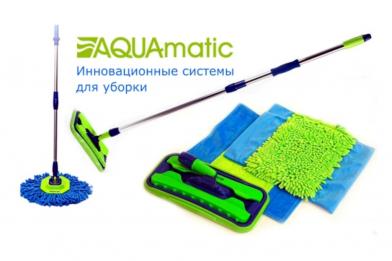 Швабры c насадками из микроволокна Aquamatic